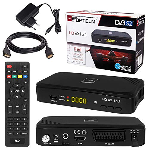 HB DIGITAL HD AX 150 Satelliten SAT Receiver