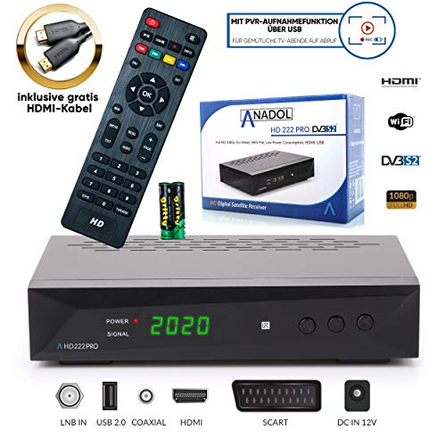 Anadol HD 222 Pro - 1080P Digital HDTV Sat-Receiver