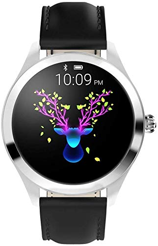 CassieZ DE Smart Watch KW10,Runder Touchscreen IP68 wasserdichte Smartwatch für Frauen